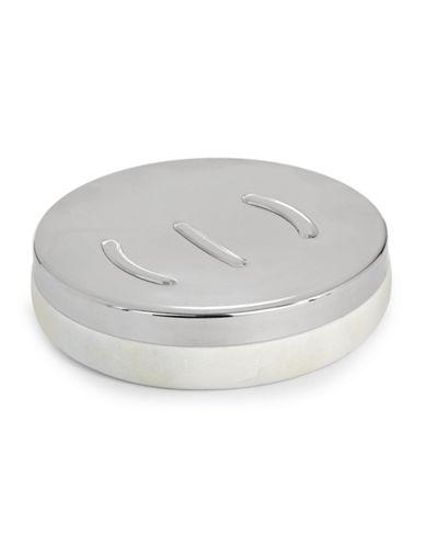 Glucksteinhome Bianco Marble Soap Dish-WHITE-One Size