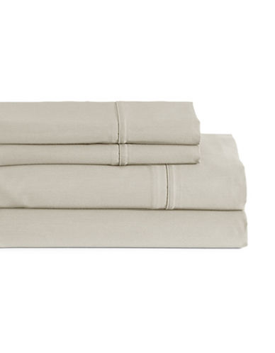 Glucksteinhome Four-Piece Davenport Egyptian Cotton Sheet Set-TAUPE-Double