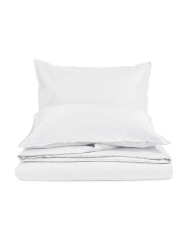 Glucksteinhome Three-Piece Davenport 700 Thread Count Egyptian cotton Duvet Cover Set-WHITE-King