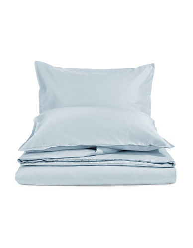 Glucksteinhome Three-Piece Davenport 700 Thread Count Egyptian cotton Duvet Cover Set-LIGHT BLUE-King