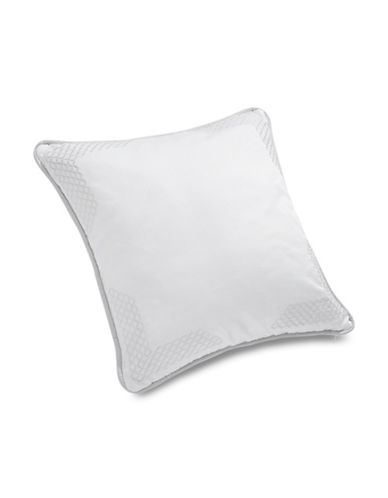 Glucksteinhome 16-Inch Savoy Square Cushion-WHITE-One Size