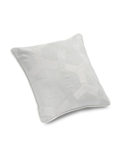 Glucksteinhome 18-Inch Savoy Square Cushion-GREY-One Size
