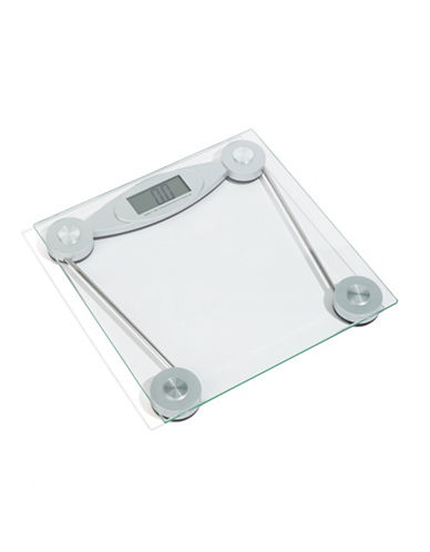 Everyday Basics Electronic Glass Bathroom Scale-SILVER-One Size
