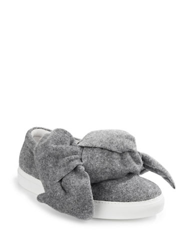 Joshua Sanders Felted Bow Sneakers-GREY-EUR 40/US 10