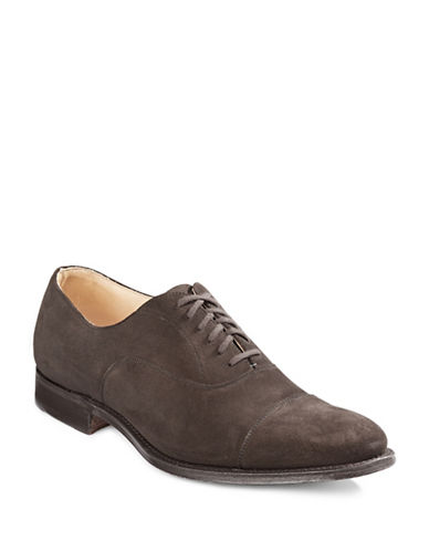 ChurchS Dubai Suede Cap Toe Shoes-BROWN-8.5