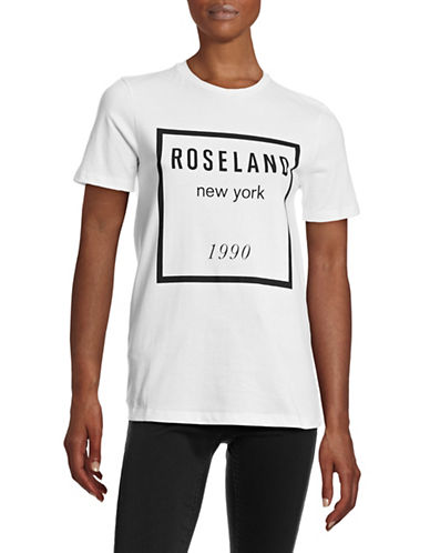 Etre Cecile Roseland Contrast Print T-Shirt-WHITE-Small 87795326_WHITE_Small