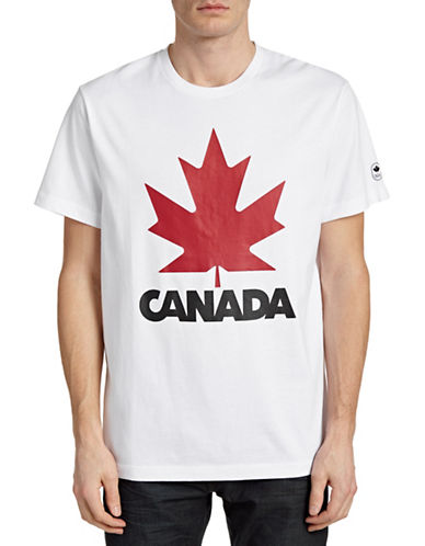 Canadian Olympic Team Collection Mens Maple Leaf T-Shirt-WHITE-X-Large 87806056_WHITE_X-Large