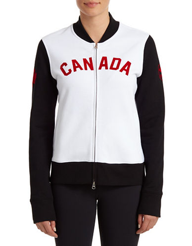 Canadian Olympic Team Collection Womens Bomber Jacket-WHITE-Large 87821210_WHITE_Large