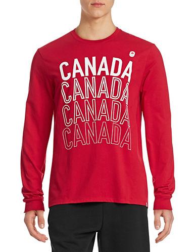 Canadian Olympic Team Collection Mens Village Multi Canada T-Shirt-RED-Medium 87825453_RED_Medium