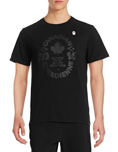 Canadian Olympic Team Collection Mens Village Crest Team T-Shirt-BLACK-Small