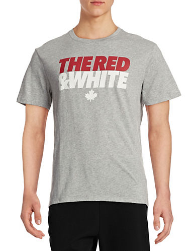 Canadian Olympic Team Collection Mens Village Red and White T-Shirt-GREY-Large 87825469_GREY_Large