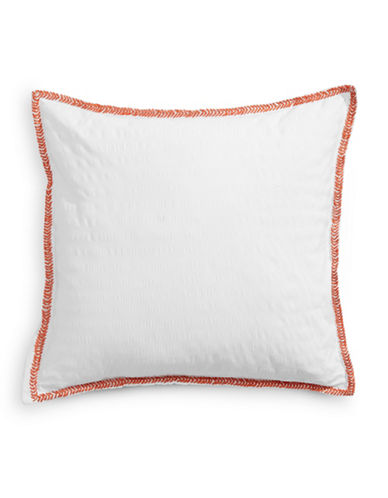 Distinctly Home Solid-Contrast Trim Pillow-ORANGE-18x18