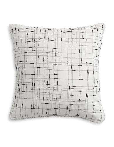 Distinctly Home Milo Beaded Grid Cushion-GREY-16X16