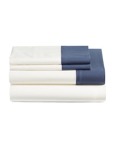 Glucksteinhome Corsica Four-Piece Sheet Set-WHITE-Queen