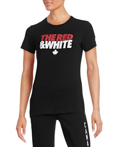 Canadian Olympic Team Collection Womens The Red White T-Shirt-BLACK-X-Large 87837543_BLACK_X-Large