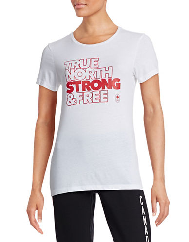 Canadian Olympic Team Collection Womens True North T-Shirt-WHITE-Small