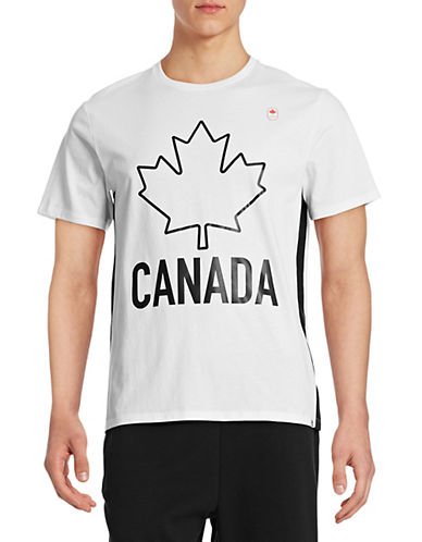 Canadian Olympic Team Collection Men's Leaf T-shirt-WHITE-Small 87838338_WHITE_Small