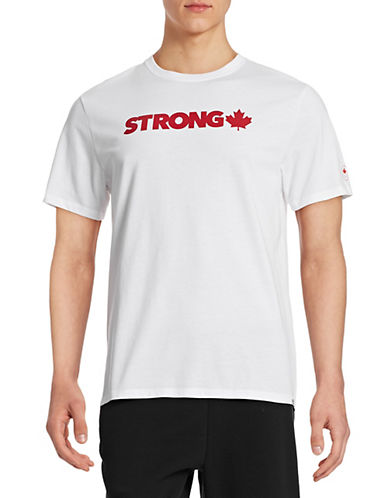 Canadian Olympic Team Collection Mens Village Strong T-Shirt-WHITE-X-Large 87838361_WHITE_X-Large