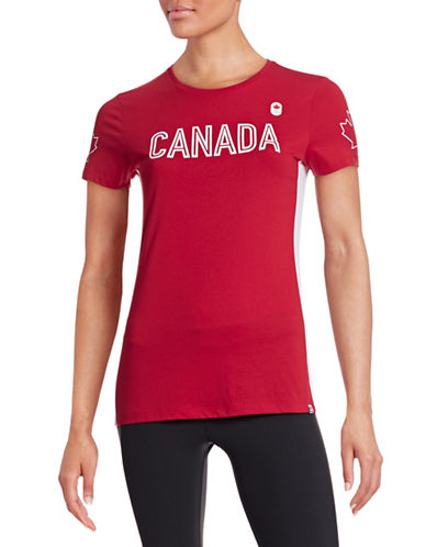 Canadian Olympic Team Collection Womens Village Media Announcement T-Shirt-RED-X-Large 87839123_RED_X-Large