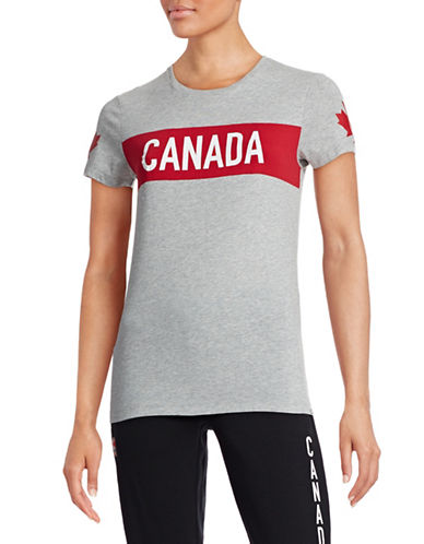 Canadian Olympic Team Collection Womens Colourblocked T-Shirt-GREY-Small 87839150_GREY_Small