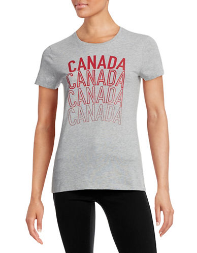Canadian Olympic Team Collection Womens Village Multi Canada T-Shirt-GREY-X-Large 87841195_GREY_X-Large