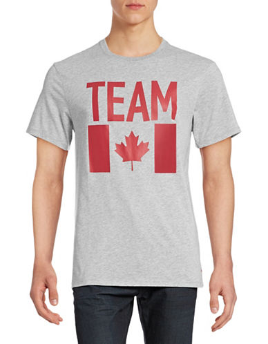 Canadian Olympic Team Collection Mens Flag T-Shirt-GREY-Large 87846005_GREY_Large