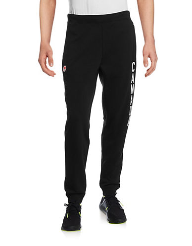 Canadian Olympic Team Collection Men's Village Fleece Track Pants-BLACK-Small 87861139_BLACK_Small