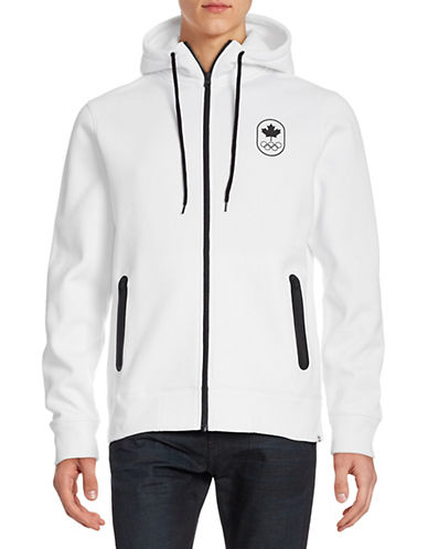 Canadian Olympic Team Collection Men's Full-Zip Maple Leaf Hoodie-WHITE-X-Large 87861157_WHITE_X-Large