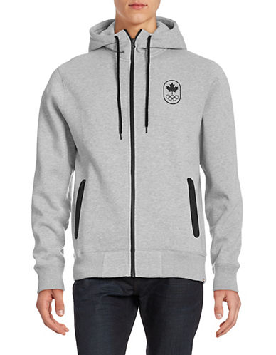 Canadian Olympic Team Collection Men's Full-Zip Maple Leaf Hoodie-GREY-X-Large 87861162_GREY_X-Large
