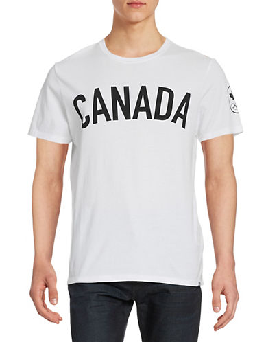 Canadian Olympic Team Collection Men's Canada Maple Leaf T-shirt-WHITE-Small 87861174_WHITE_Small