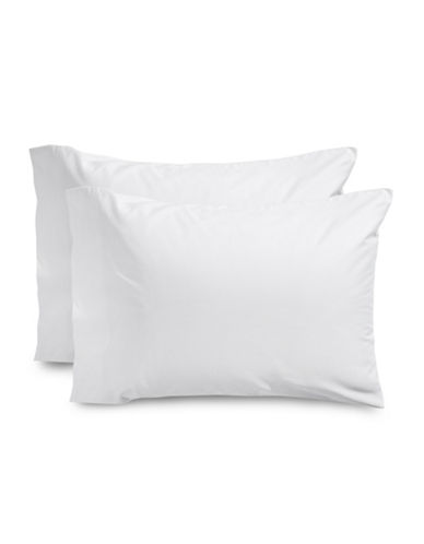 Glucksteinhome Two-Pack Supima Cotton Pillowcases-WHITE-King