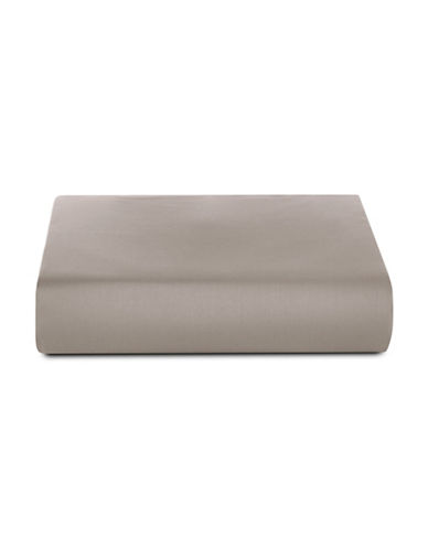 Glucksteinhome 600 Thread-Count Supima Cotton Fitted Sheet-BEIGE-Twin