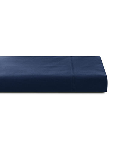 Glucksteinhome 600 Thread-Count Supima Cotton Flat Sheet-NAVY-King