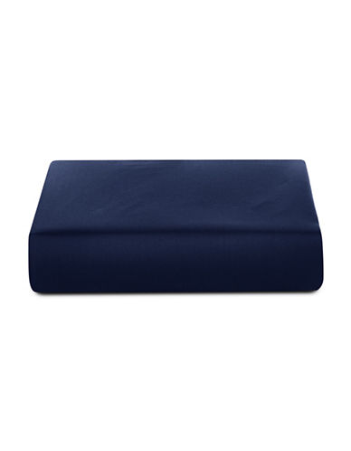 Glucksteinhome 600 Thread-Count Supima Cotton Fitted Sheet-NAVY-King