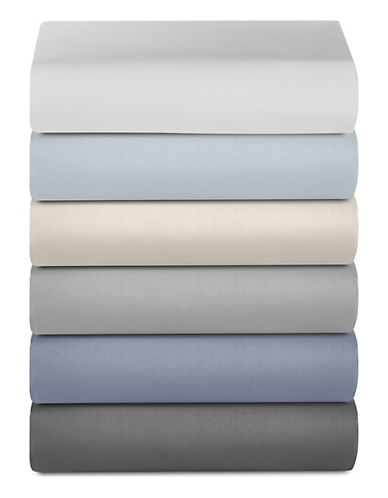 Glucksteinhome 600 Thread-Count Supima Cotton Fitted Sheet-LIGHT GREY-Queen