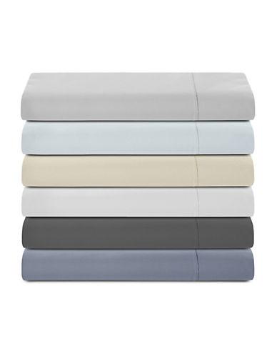 Glucksteinhome 600 Thread-Count Supima Cotton Flat Sheet-BLUE-Queen
