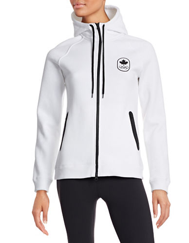 Canadian Olympic Team Collection Women's Maple Leaf Hoodie-WHITE-Medium 87865476_WHITE_Medium