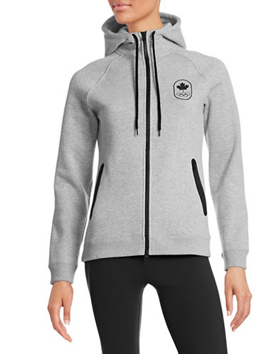Canadian Olympic Team Collection Women's Maple Leaf Hoodie-GREY-Large 87865482_GREY_Large