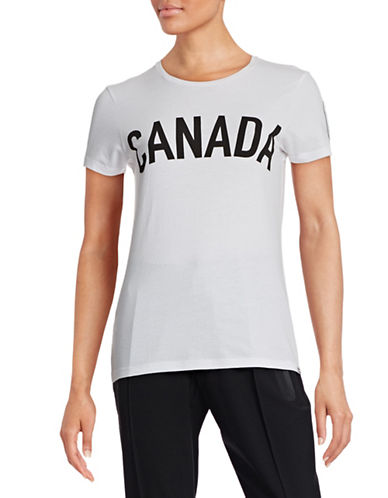 Canadian Olympic Team Collection Women's Maple Leaf Long Sleeve T-shirt-WHITE-Small 87865490_WHITE_Small