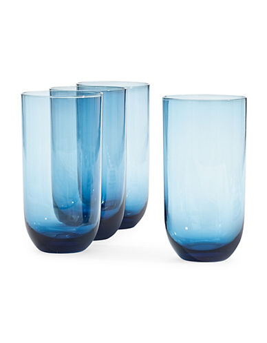 Distinctly Home 4 Pack Como Highball Glasses-BLUE-One Size