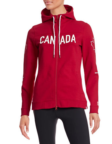 Canadian Olympic Team Collection Women's Maple Leaf Hoodie-RED-X-Small 87873530_RED_X-Small