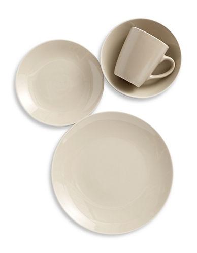 Glucksteinhome 16-Piece Aurora Dinnerware Set-TAUPE-One Size