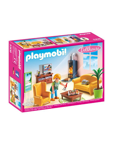 Playmobil Living Room with Fireplace Playset-MULTI-One Size