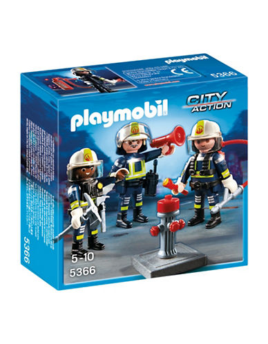 Playmobil Fire Rescue Crew Playset-MULTI-One Size
