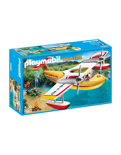 Playmobil Firefighting Seaplane Playset-MULTI-One Size