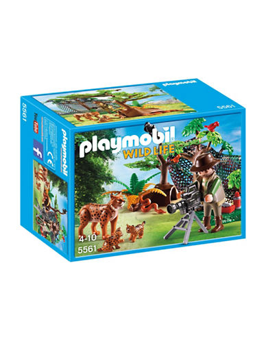 Playmobil Lynx Family with Cameraman Playset-MULTI-One Size