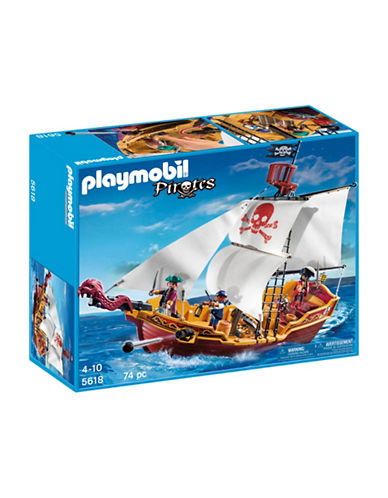 Playmobil Red Serpent Pirate Ship Playset-MULTI-One Size