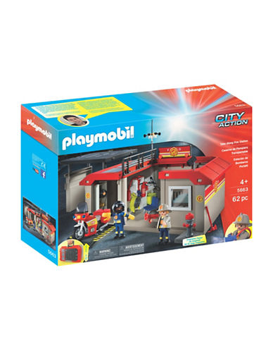 Playmobil Take Along Fire Station-MULTI-One Size