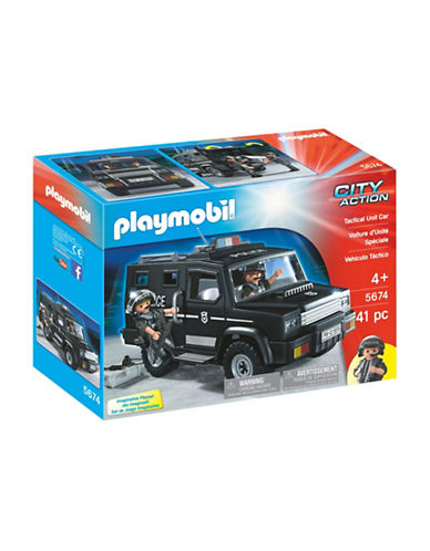 Playmobil Tactical Unit Car Set-MULTI-One Size