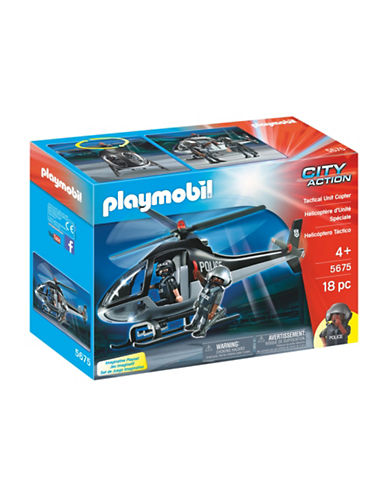 Playmobil Tactical Unit Copter Set-MULTI-One Size